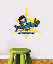 Chipakk Chakra The Invincible Wall Sticker Blue & Yellow - Medium