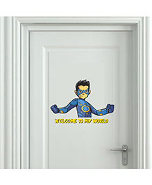 Chipakk Chakra The Invincible Wilcome To My World Wall Sticker Blue - Medium
