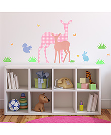 Chipakk Stitched Pattern Deer Design HD Quality Kids Room Wall Decal - Multicolor