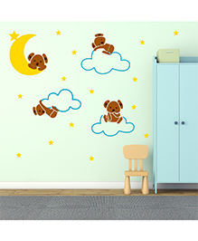 Chipakk Cute Baby Bears With Stars And Moon HD Quality Kids Room Wall Decal - Multicolor