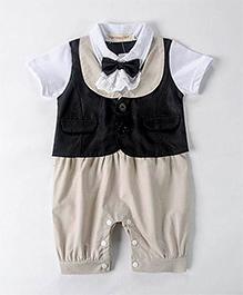 Pre Order : Petite Kids Party Romper Suit - Khaki
