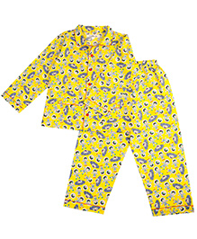 Cuddle Up Astronaut Night Suit For Kids - Yellow