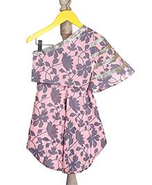 Mi Dulce An'ya Off-Shoulder Style Organic Top And Palazzo Set - Pink