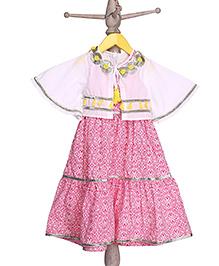 Mi Dulce An'ya Tiered Organic Dress With Jacket - Pink