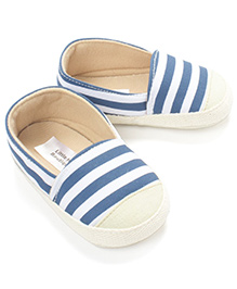 Little Hip Boutique Stripe Print Slip Ons - Blue
