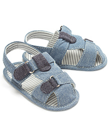 Little Hip Boutique Denim Infant Sandals - Blue