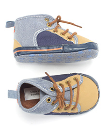 Little Hip Boutique Lace Up Walkers - Blue & Brown