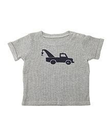 Weedots Cotton Thermal T-Shirt Vehicle Design - Grey