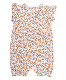 Weedots Cap Sleeves Floral Romper - Multicolor