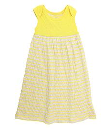 Weedots Sleeveless Dress Stripes Print - Yellow
