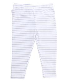 Weedots Full Length Stripe Leggings - White Blue