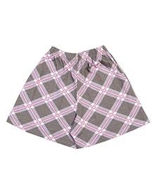 De-nap Checks Shorts - Grey