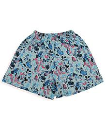 De-nap Abstract Print Shorts - Blue