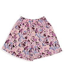 De-nap Abstract Print Shorts - Peach
