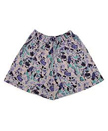 De-nap Abstract Print Shorts - Purple