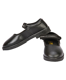 Rex School Shoes With Velcro Closure - Black