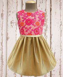 A.T.U.N. Shimmer Bow Dress - Fuchsia & Gold
