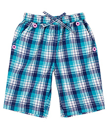 Shoppertree Checkered Shorts - Blue