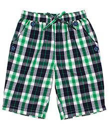 Shoppertree Checkered Shorts - Green