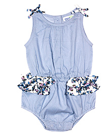 ShopperTree Sleeveless Romper - Sky Blue