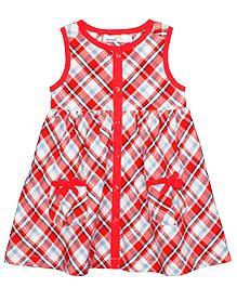 Shoppertree Sleeveless Checkered Dress - Red