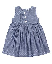Shoppertree Sleeveless Dobby Dress - Blue