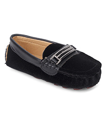 Cute Walk by Babyhug Loafers - Black
