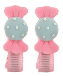 Angel Closet Candy Hair Clip Pink & Blue - Pair Of 2