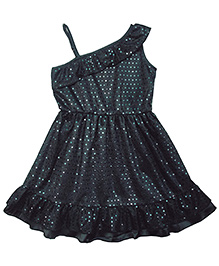Campana Sleeveless Glitter Party Dress - Black