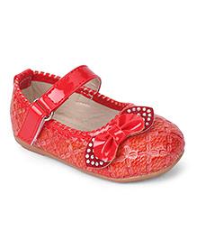 Cute Walk by Babyhug Bellies Stone Embellishment - Red