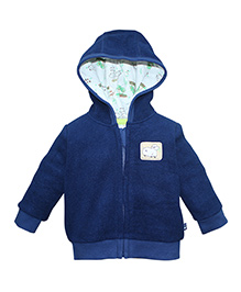 FS Mini Klub Full Sleeves Hooded Fleece Jacket - Navy Blue