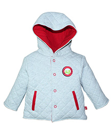 FS Mini Klub Full Sleeves Quilted Jacket With Hood - Grey