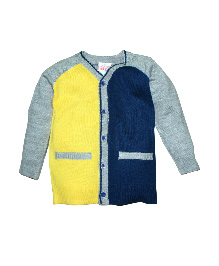 FS Mini Klub Full Sleeves Sweater - Yellow Blue