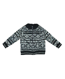 FS Mini Klub Full Sleeves Aztec Pattern Sweater - Navy Blue
