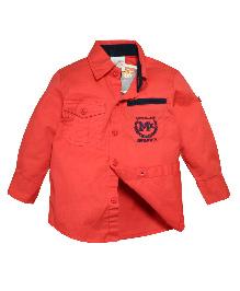 FS Mini Klub Full Sleeves Woven Shirt - Coral