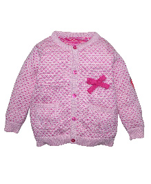 FS Mini Klub Full Sleeves Cardigan - Pink