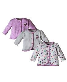 FS Mini Klub Full Sleeves Vests Pack of 3 - Pink White