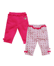 FS Mini Klub Full Length Solid And Printed Bottoms - Pink