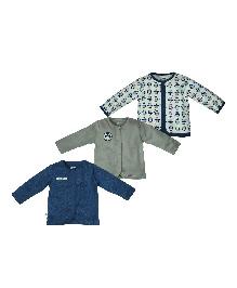 FS Mini Klub Full Sleeves Vest Pack of 3 - Multi Color