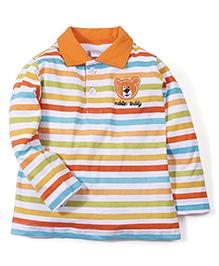 Babyhug Full Sleeves T-Shirt Teddy Patch - Multi Color