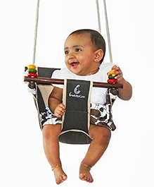 CuddlyCoo Baby And Toddler Swing - Barkwood