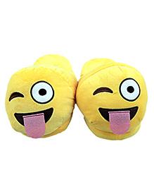 The Crazy Me Emoji Naughty Slippers - Yellow