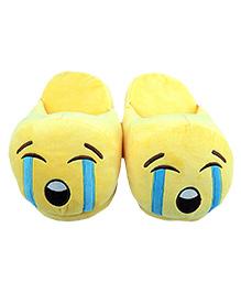 The Crazy Me Emoji ROFL Slippers - Yellow
