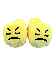 The Crazy Me Emoji Angry Slippers - Yellow