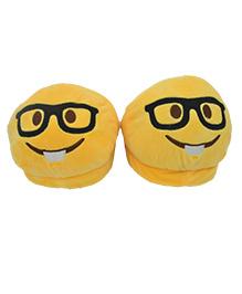 The Crazy Me Emoji Nerdy Eye Slippers - Yellow