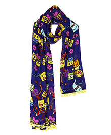 The Crazy Me Emoji Stick ons Scarf - Muticolour