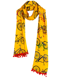 The Crazy Me Cycle Ride Scarf - Yellow