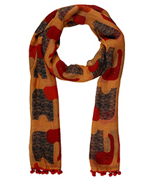 The Crazy Me Elephant Scarf - Muticolour