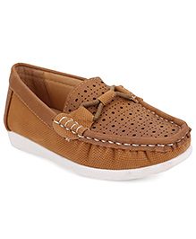 Cute Walk by Babyhug Loafers - Sepia