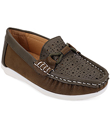 Cute Walk by Babyhug Loafers - Olive
